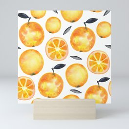 Lovely Oranges Bananas Pattern Mini Art Print