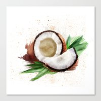 coconut wishes Canvas Prints featuring coconut by Zazie-bulles