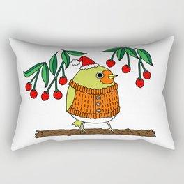 Festive Robin Rectangular Pillow