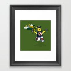 Bears Bricked: Jared Allen Framed Art Print