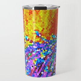 Peacock Glory Abstract Travel Mug