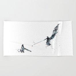 Final Fantasy Watercolor Beach Towel