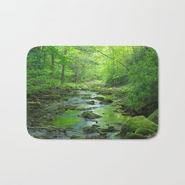 Rocky Forest Creek Bath Mat
