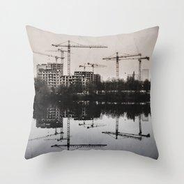 Industrial (retro postcard) Throw Pillow
