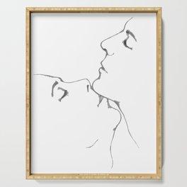 Kiss kiss kiss Serving Tray
