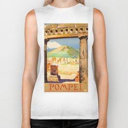 Vintage Pompei Italy Travel Biker Tank