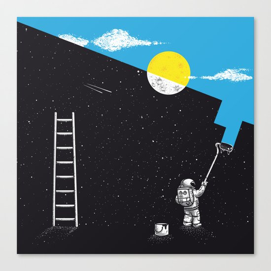 Night Painter Canvas Print