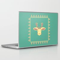 jackalope Laptop & iPad Skins featuring Happy Jackalope by Ruby Door