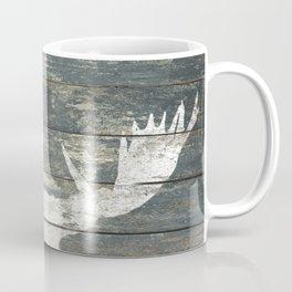 Rustic White Moose Silhouette A424a Coffee Mug