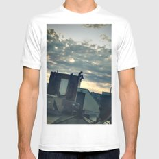 commence.  Mens Fitted Tee MEDIUM White
