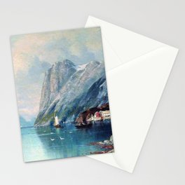 Fjord In Norway 1899 By Lev Lagorio | Reproduction | Russian Romanticism Painter Stationery Cards