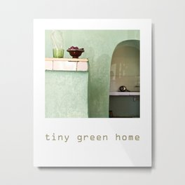 Tiny Green Home Metal Print