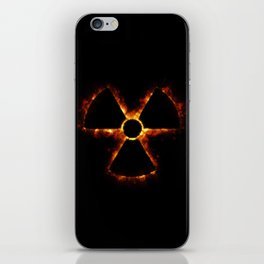 Nuclear Icon in Fire iPhone Skin