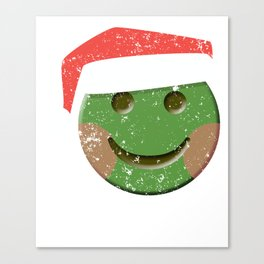 Happy Face Santa Claus Emoticon Shirt Canvas Print