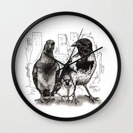 Urban Birds Wall Clock