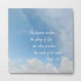 The Heavens Declare Metal Print