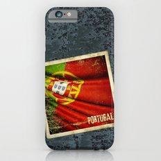 Portugal grunge sticker flag iPhone 6s Slim Case