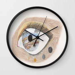 The Eye Sees Jupiter Wall Clock