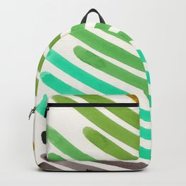 1950s Vintage colorful Palette Watercolor Stripes Mid Century Modern Minimalist Art Backpack
