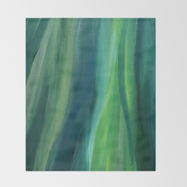 Green Magic Throw Blanket