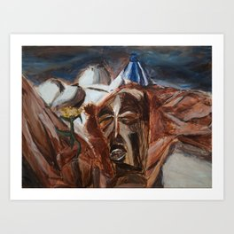 Mask Still-Life Art Print