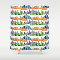 cities Shower Curtains featuring Australian Cities by S. Vaeth