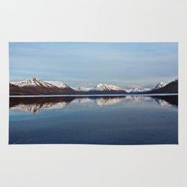 Mountains on Karluk Lake Photography Print Rug