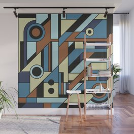 De Stijl Abstract Geometric Artwork 3 Wall Mural