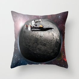Moon race to the dark side of the moon. Throw Pillow