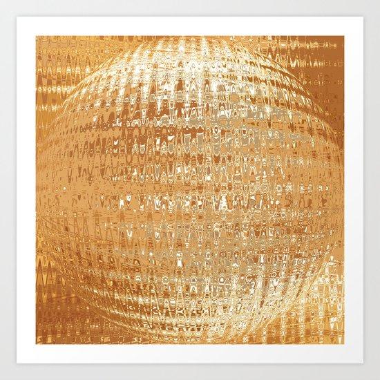 Golden Ball Art Print