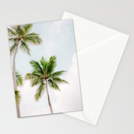For the love of palm trees   Dominican Republic travel photography print   Summer time Stationery Cards