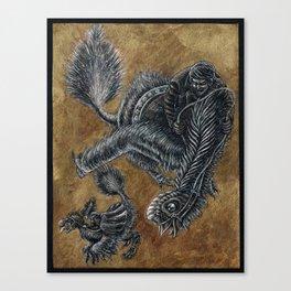 """Victorians Riding Dinosaurs - Nomingia"" Canvas Print"