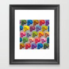 skull in color Framed Art Print