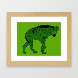 The aberrant hyena Framed Art Print