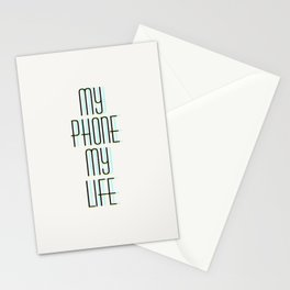 my phone my life Stationery Cards
