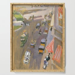 Fifth Avenue New York By Joaquin Sorolla Serving Tray