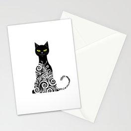 ornamental cat Stationery Cards