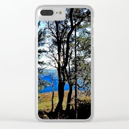 Trees, Daylight Stoney Hill Clear iPhone Case