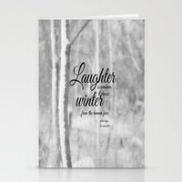 les miserables Stationery Cards featuring Les Miserables Quote Winter by KimberosePhotography