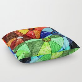 Earth Air Fire Water Ether Floor Pillow