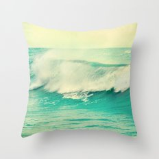 The force of the waves Throw Pillow
