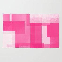 Modern Abstract No. 23   Fucshia Rug