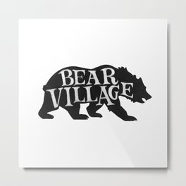 Bear Village - Grizzly Metal Print