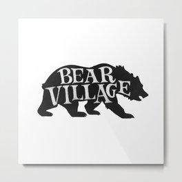 Bear Village - Grizzly Metal Print