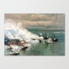 Battle Of Mobile Bay -- Civil War Canvas Print
