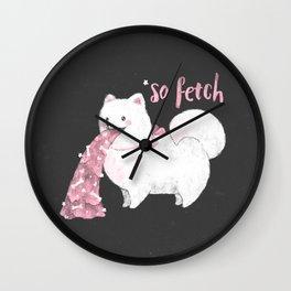 Fido, That's So Fetch! (In Grey) Wall Clock
