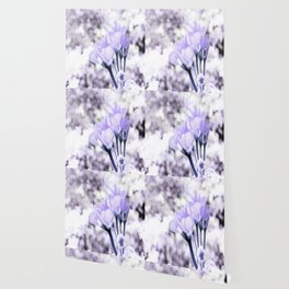 Pastel Periwinkle Flowers Wallpaper