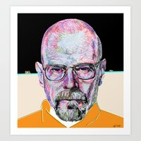 Walter White Breaking Bad (Beige) Art Print