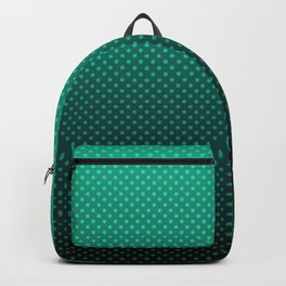 Green gradient , polka dot #gradient #polkadots #popular Backpack