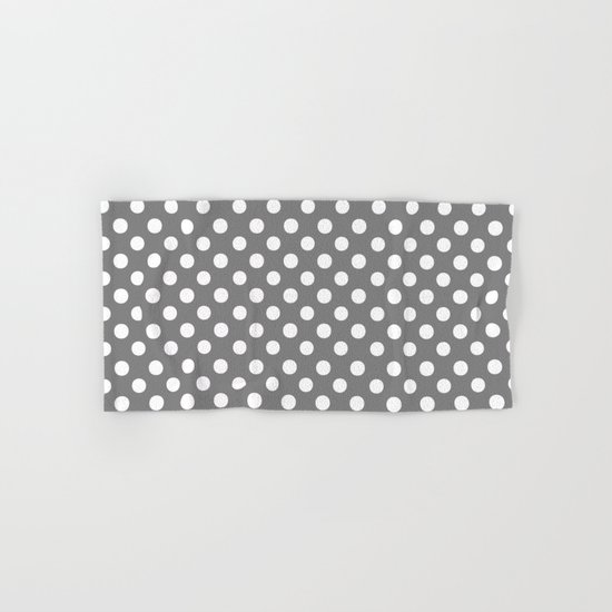 Polka Dots (White/Gray) Hand & Bath Towel